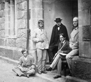 Erasmus Alvey Darwin with Charles Darwin's sons